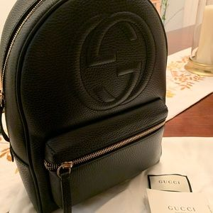 Brand New Gucci Backpack with chain straps!